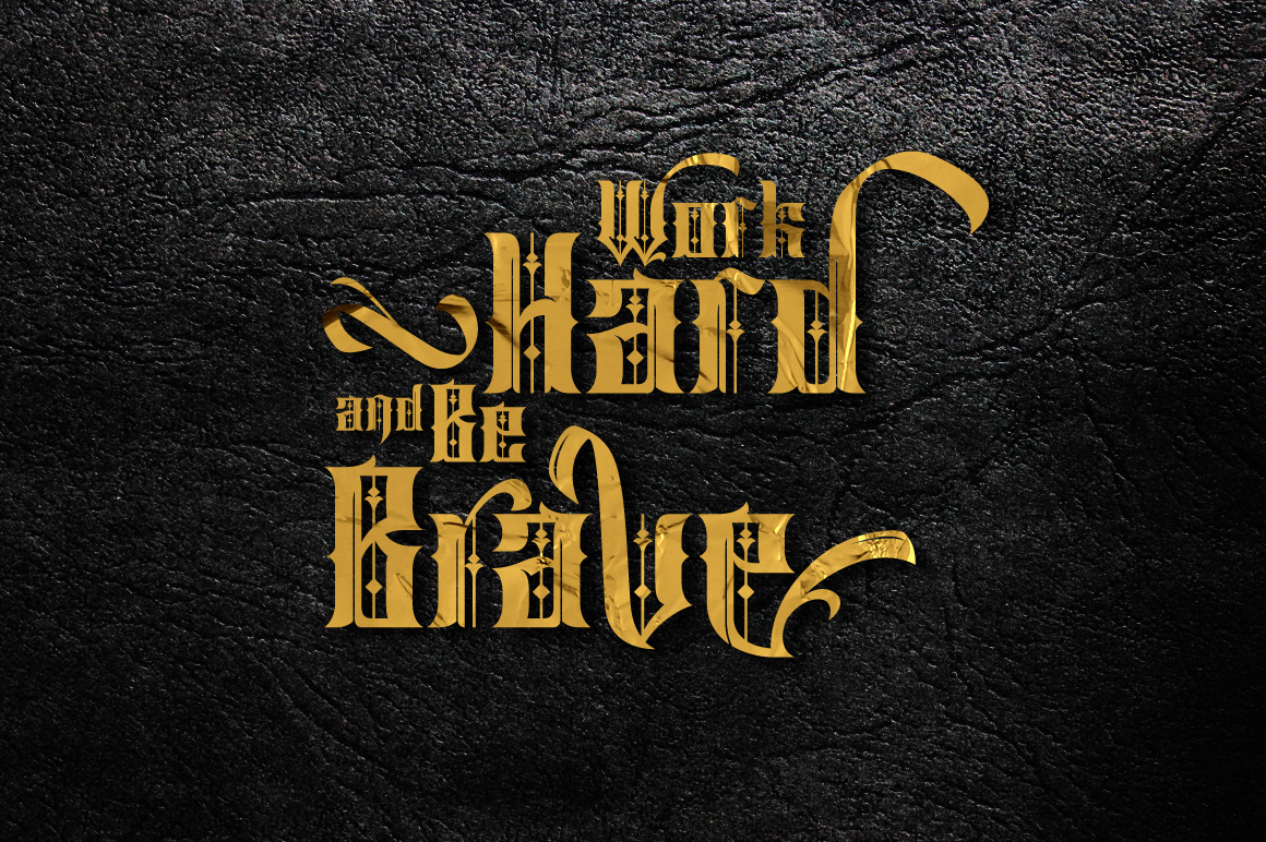 Print on Demand: Sirunian Blackletter Font By Arterfak Project - Image 5