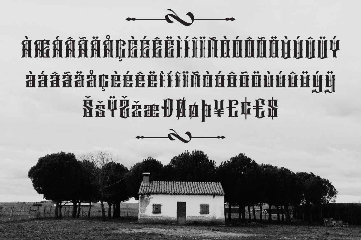 Print on Demand: Sirunian Blackletter Font By Arterfak Project - Image 8
