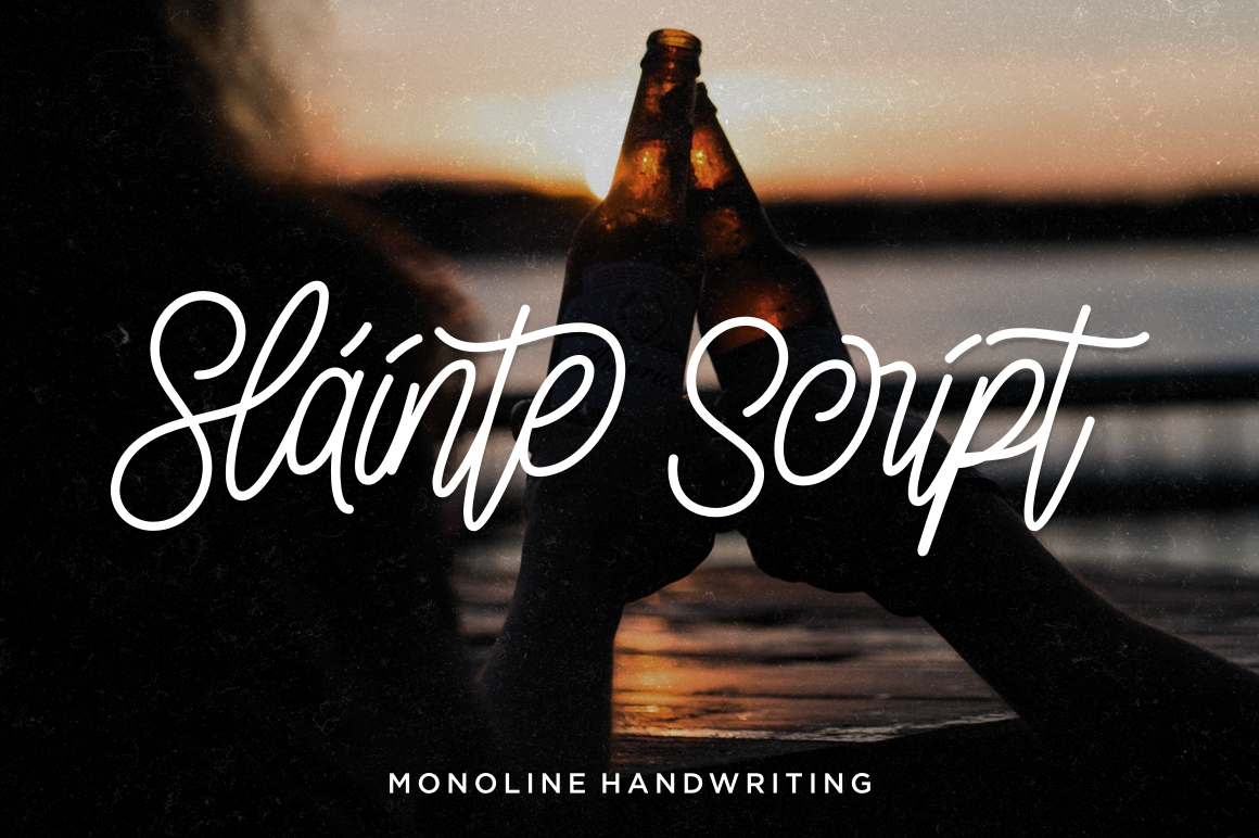 Print on Demand: Sláinte Script & Handwritten Font By Fontdation - Image 1