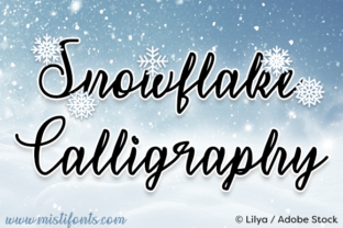 Snowflake Calligraphy Font By Misti