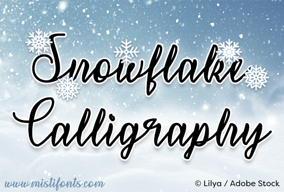 Print on Demand: Snowflake Calligraphy Script & Handwritten Font By Misti