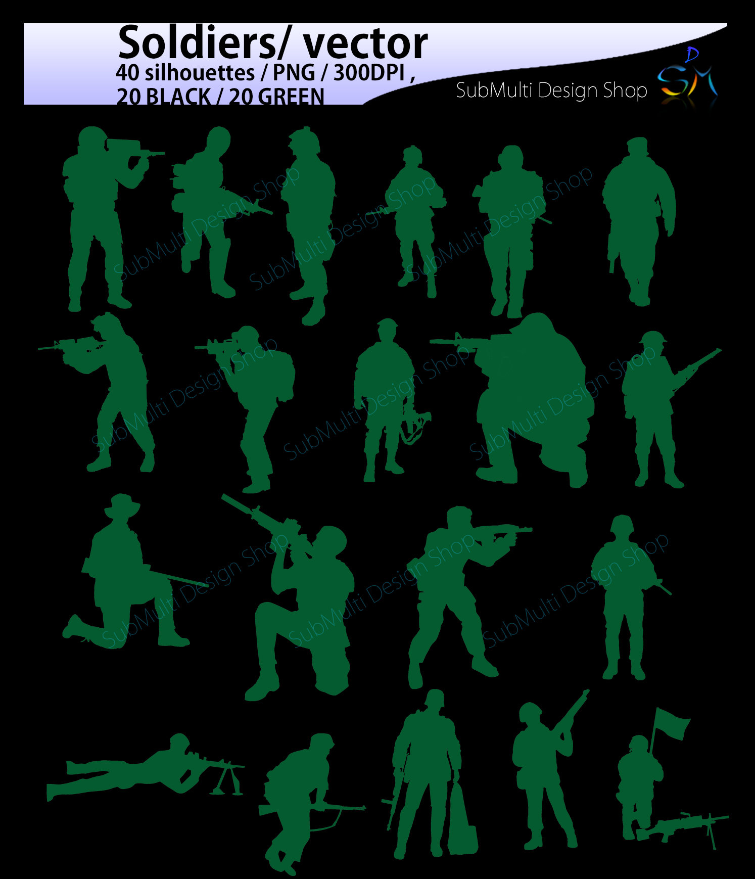 Download Free Soldiers Graphic By Arcs Multidesigns Creative Fabrica for Cricut Explore, Silhouette and other cutting machines.