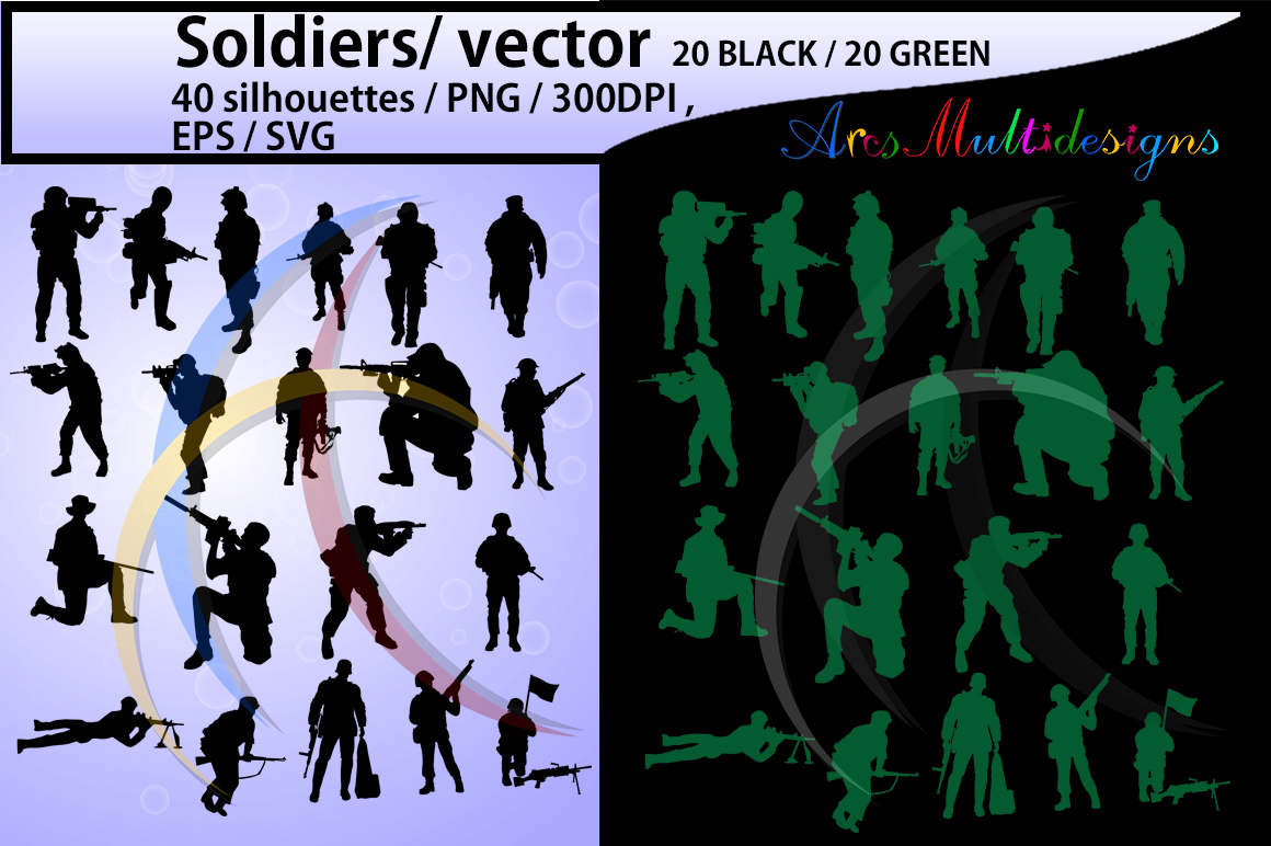 Print on Demand: Soldiers  Graphic Illustrations By Arcs Multidesigns