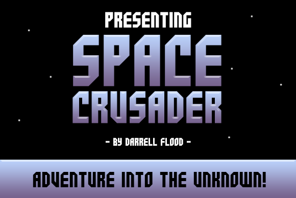 Print on Demand: Space Crusader Display Font By Dadiomouse