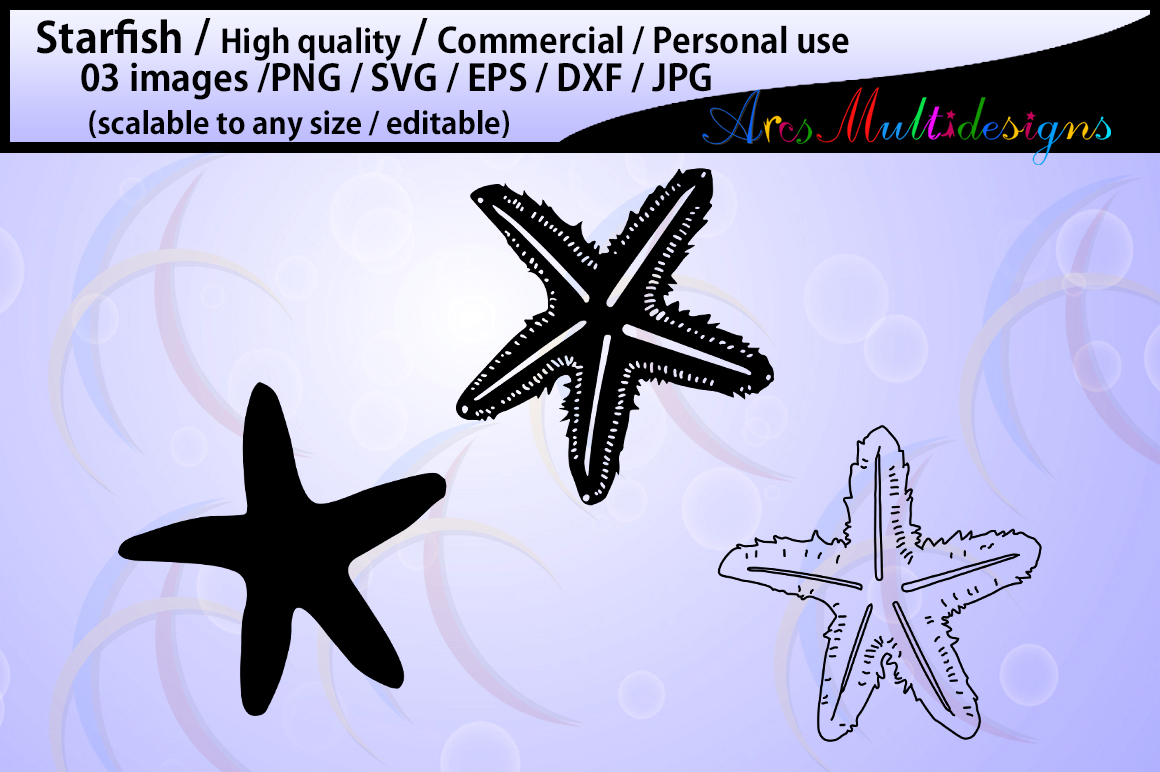 Print on Demand: Starfish Silhouette Graphic Crafts By Arcs Multidesigns