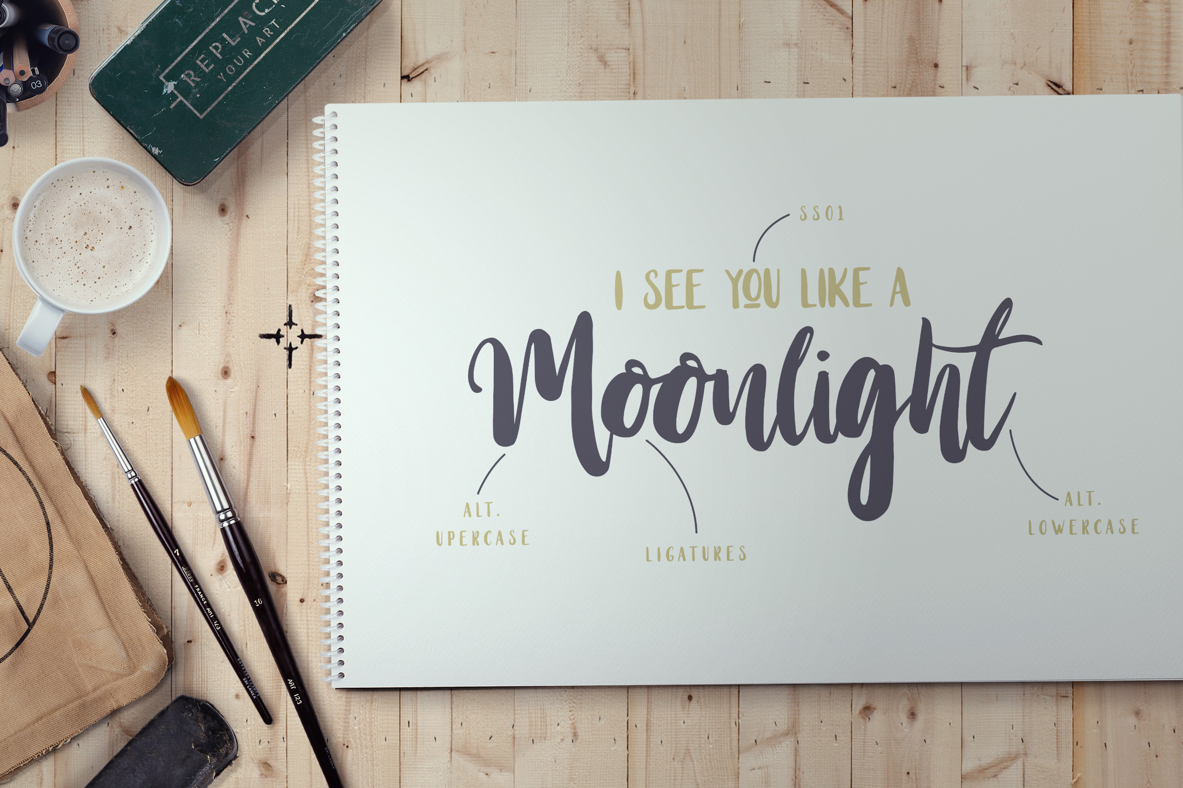 Print on Demand: Stay Wildy Script & Handwritten Font By Dikas Studio - Image 2
