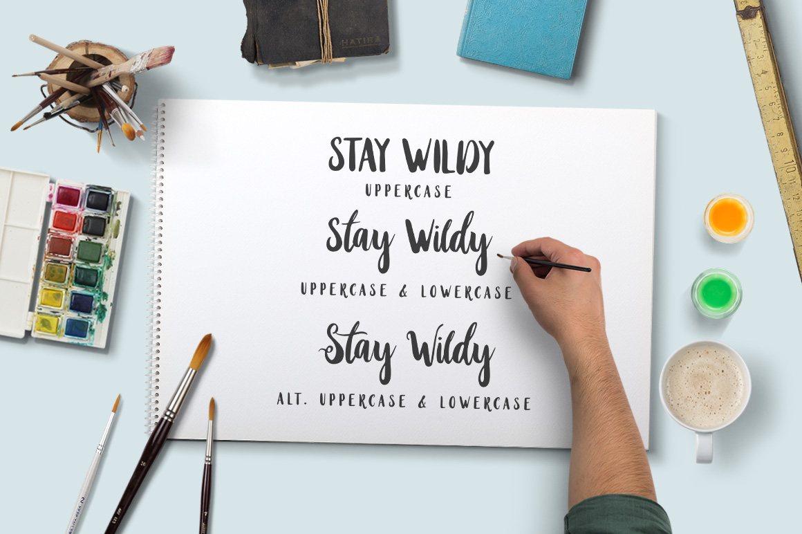 Print on Demand: Stay Wildy Script & Handwritten Font By Dikas Studio - Image 4