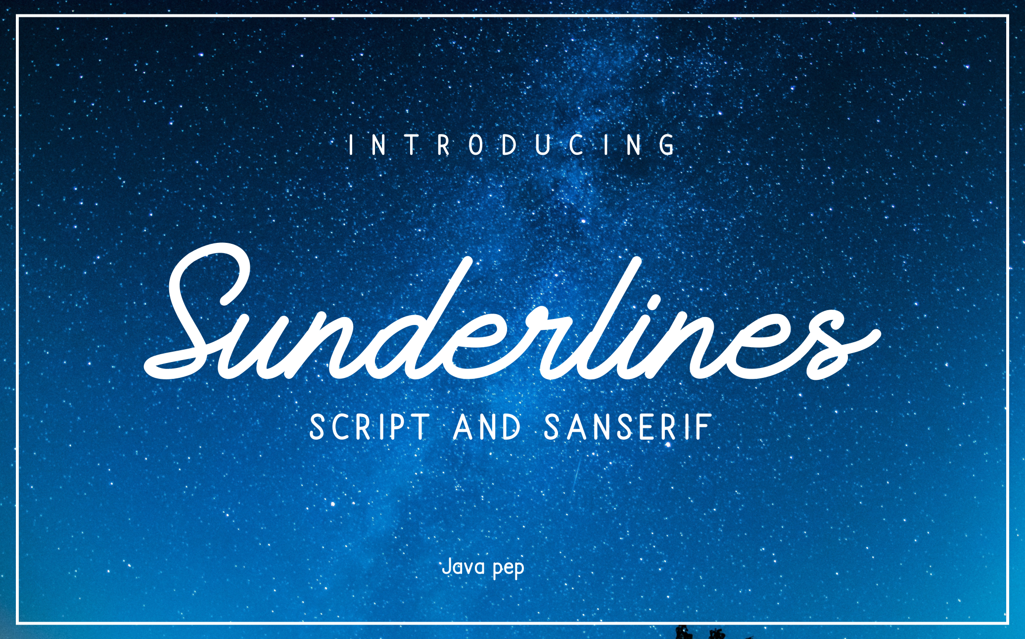 Print on Demand: Sunderlines Script & Handwritten Font By JavaPep