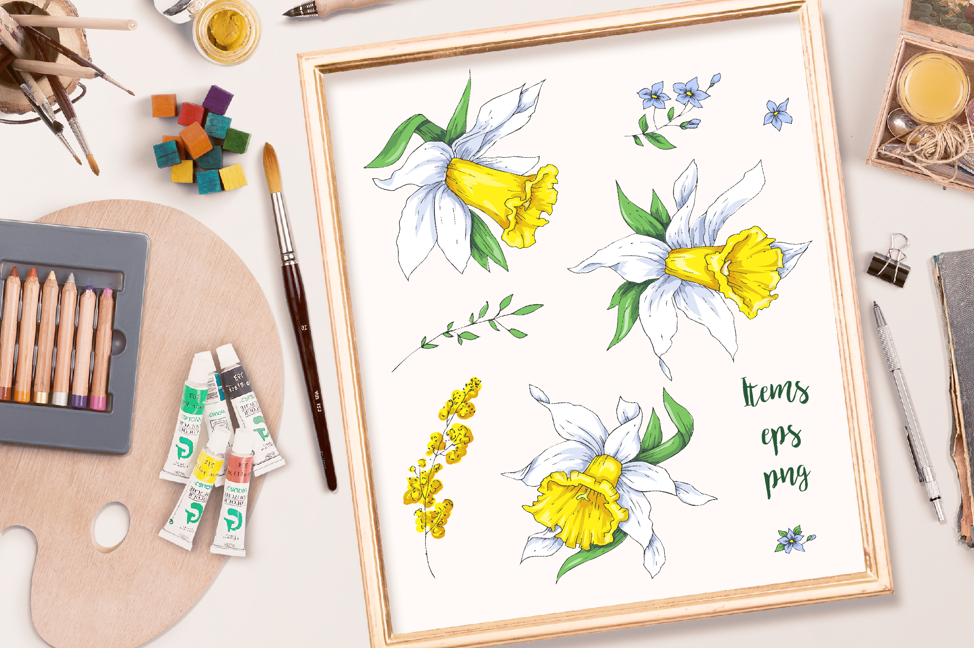 Print on Demand: Sunny Flowers – Spring Clip Art Graphic Illustrations By nicjulia - Image 2