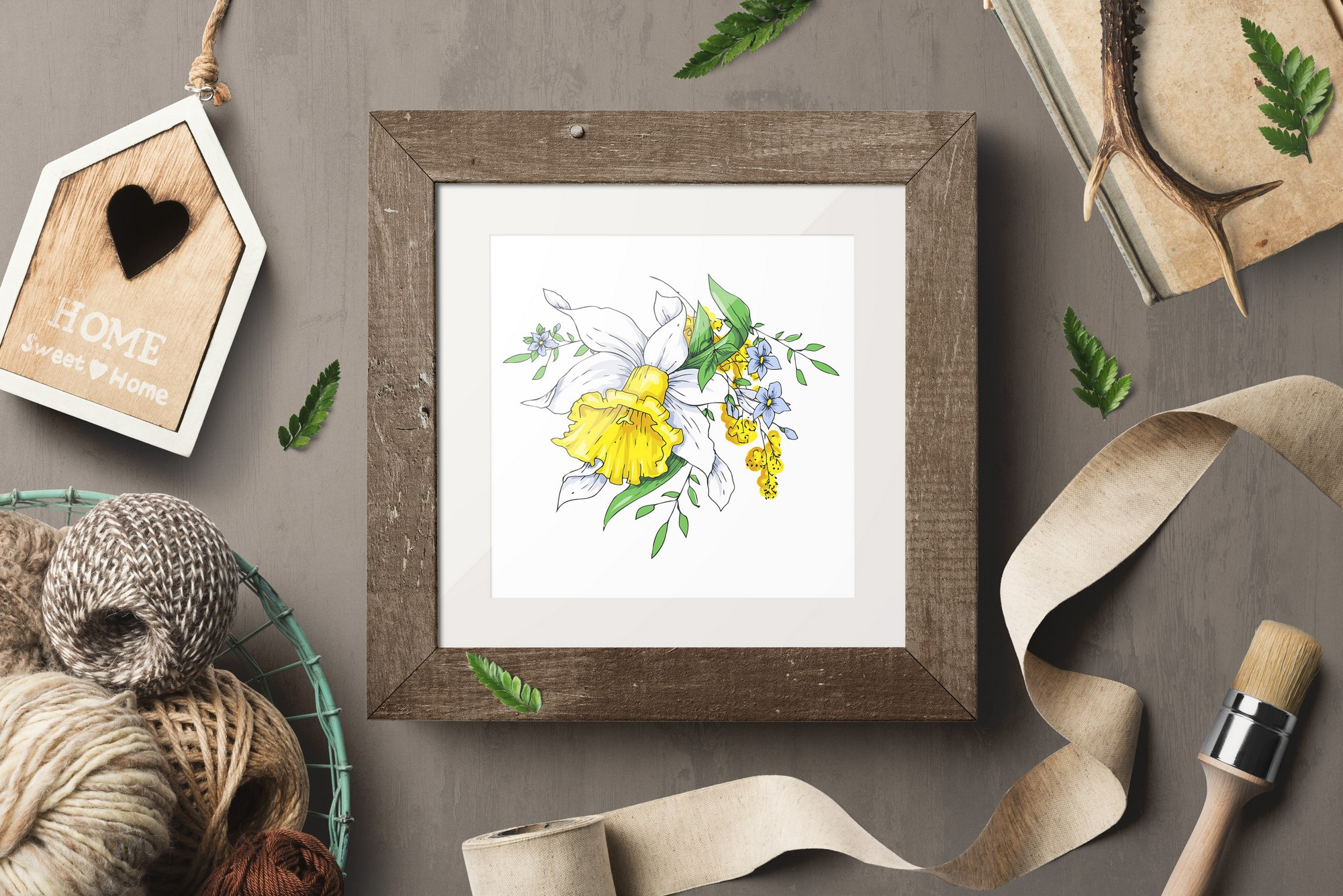 Print on Demand: Sunny Flowers – Spring Clip Art Graphic Illustrations By nicjulia - Image 7