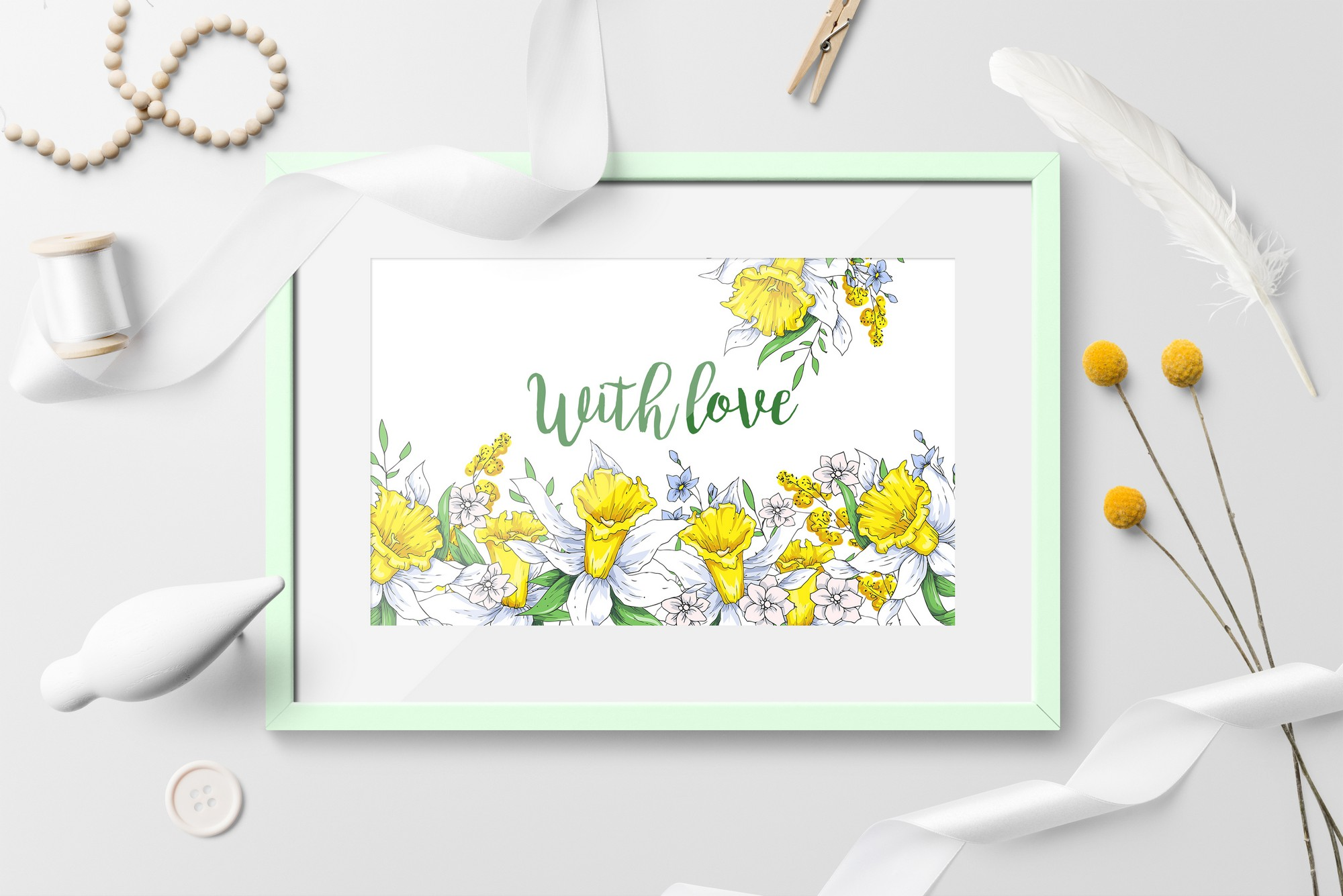 Print on Demand: Sunny Flowers – Spring Clip Art Graphic Illustrations By nicjulia - Image 8