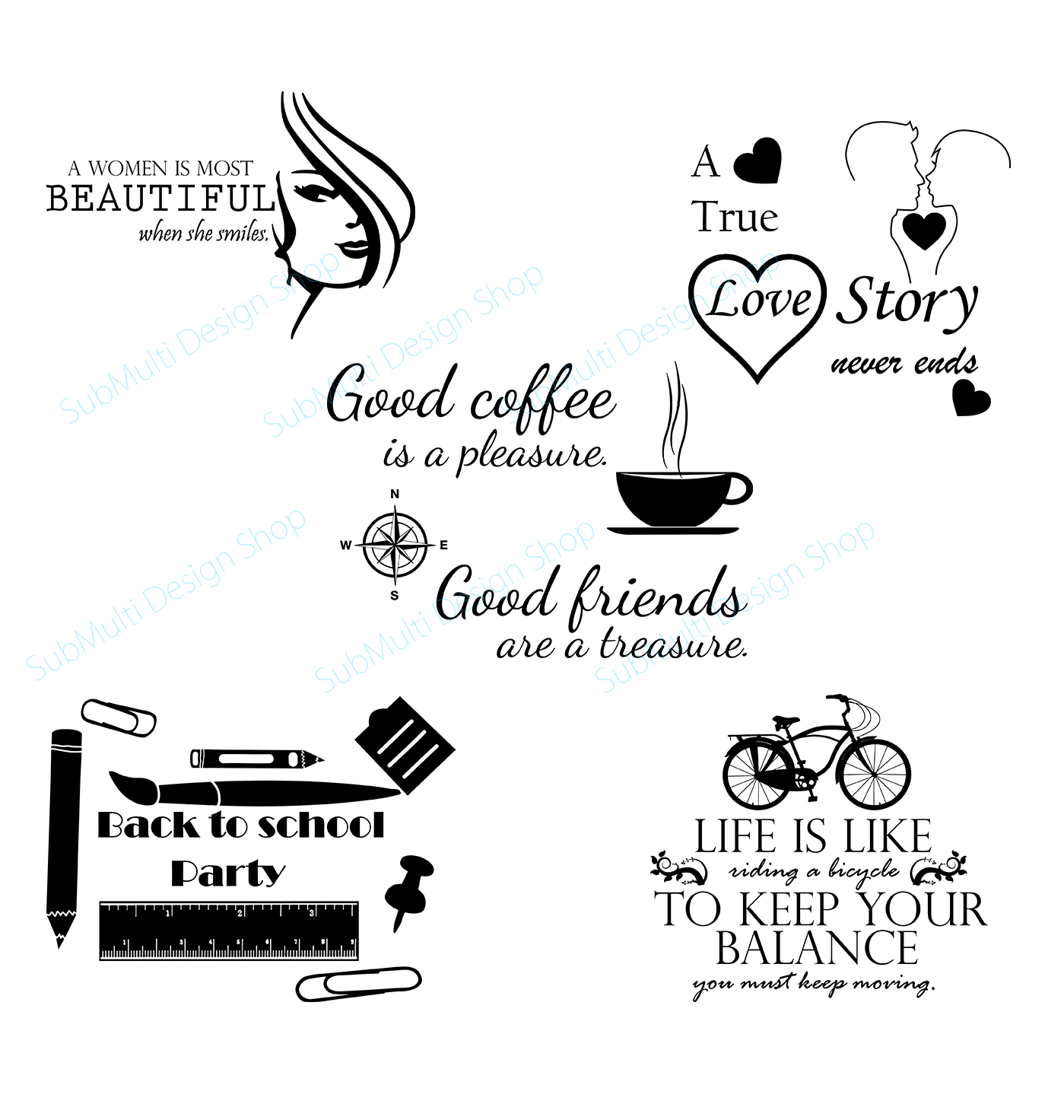Download Free Quotes About Life Graphic By Arcs Multidesigns Creative Fabrica for Cricut Explore, Silhouette and other cutting machines.