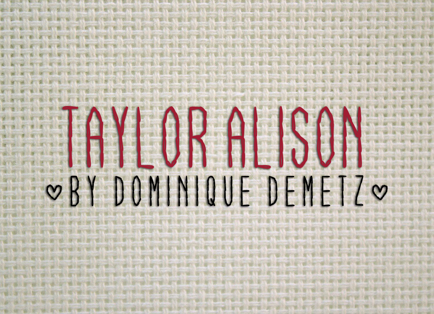 Print on Demand: Taylor Alison Decorative Font By Dominique Demetz