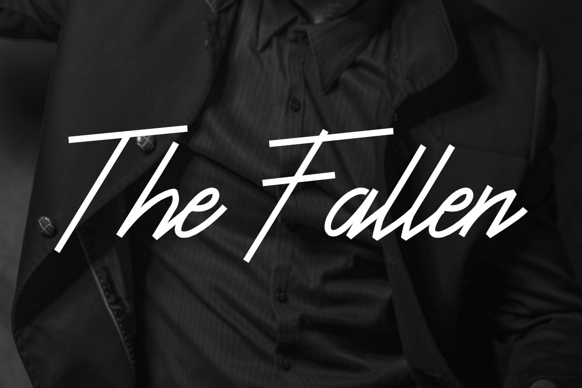Print on Demand: The Fallen Script & Handwritten Font By LebahStudio