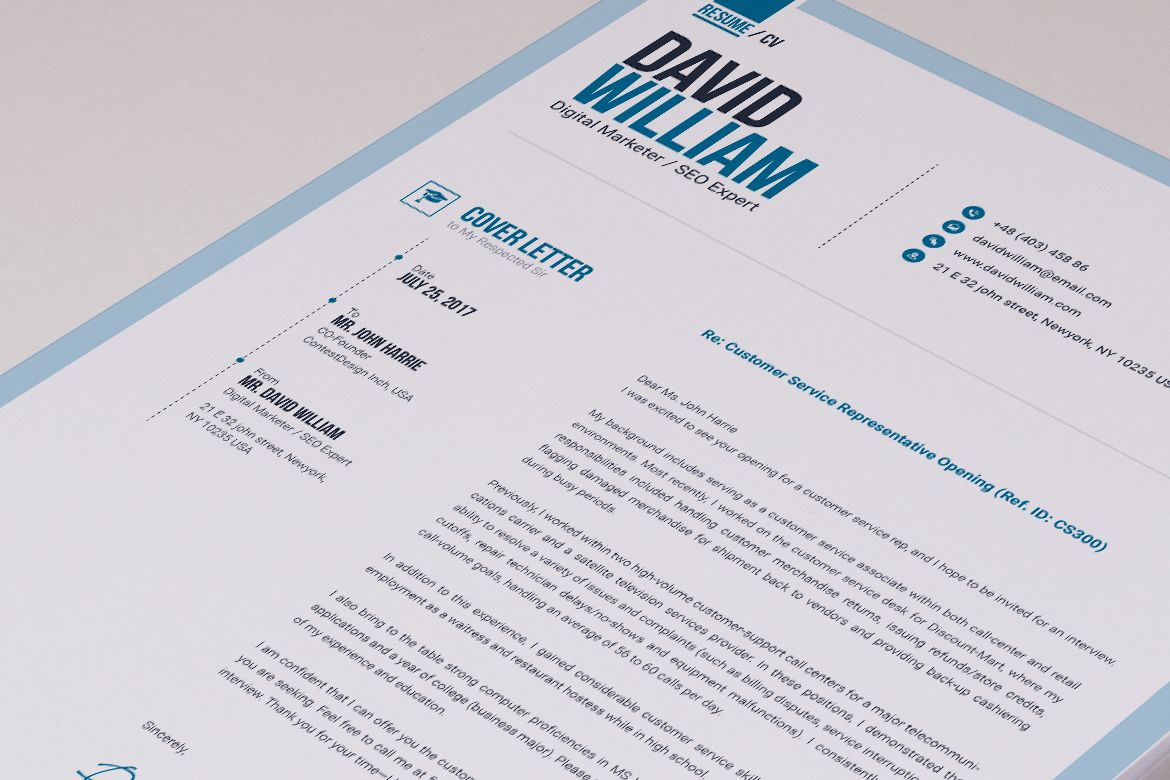 the ultimate resume template cv template builder graphic by