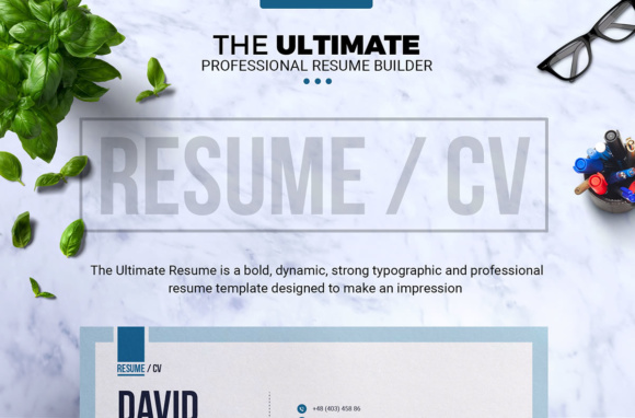 The Ultimate Resume Template | CV Template Builder Graphic by ...