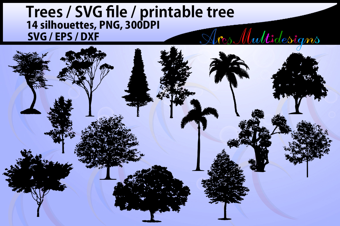 Print on Demand: Tree Silhouette Graphic Crafts By Arcs Multidesigns