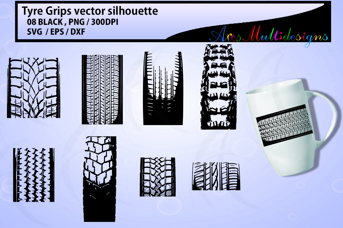 Print on Demand: Tyre Grip SVG Graphic Crafts By Arcs Multidesigns