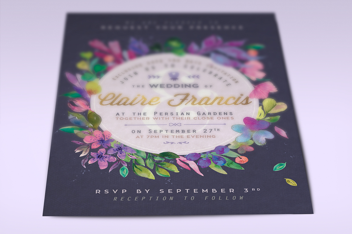 Print on Demand: Ultra-Violet Lovely Foliage Card II Graphic Print Templates By lavie1blonde - Image 5