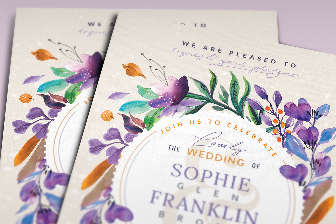 Ultra-Violet Lovely Foliage Card III Graphic By lavie1blonde Image 3
