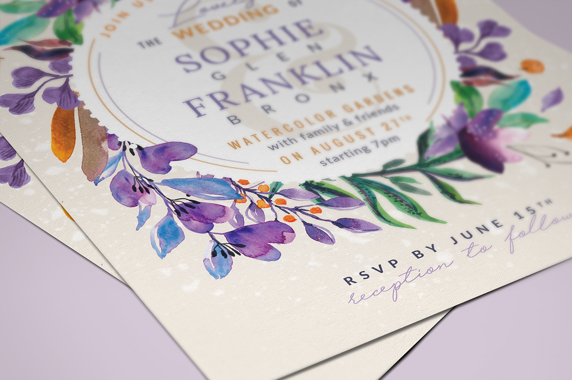 Ultra-Violet Lovely Foliage Card III Graphic By lavie1blonde Image 4