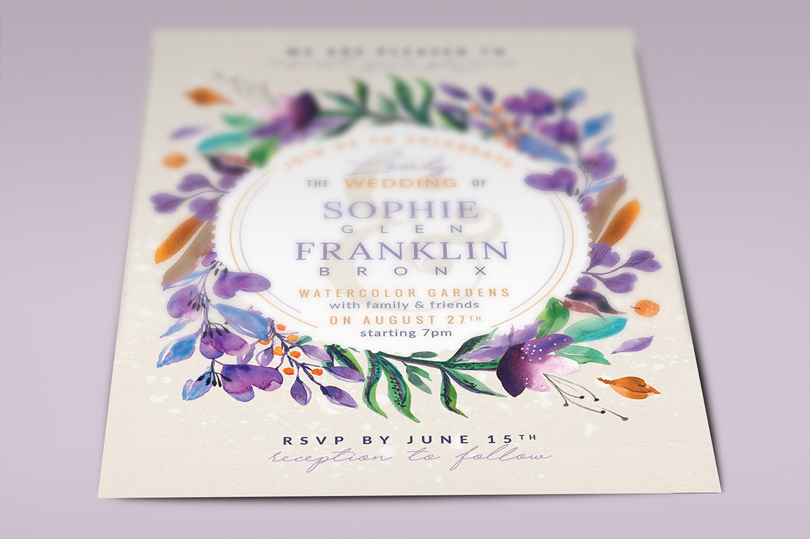 Ultra-Violet Lovely Foliage Card III Graphic By lavie1blonde Image 5