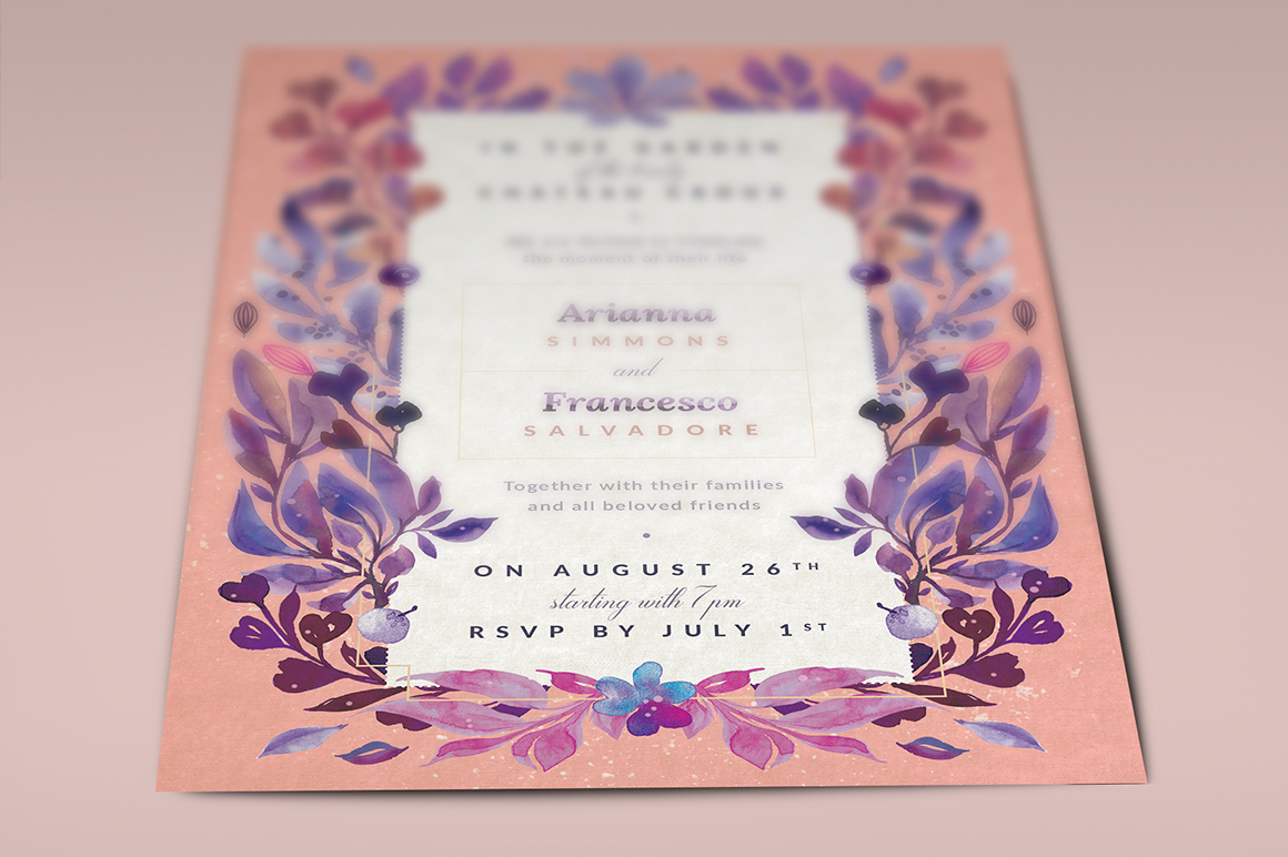 Print on Demand: Ultra-Violet Lovely Story Invite I Graphic Print Templates By lavie1blonde - Image 5