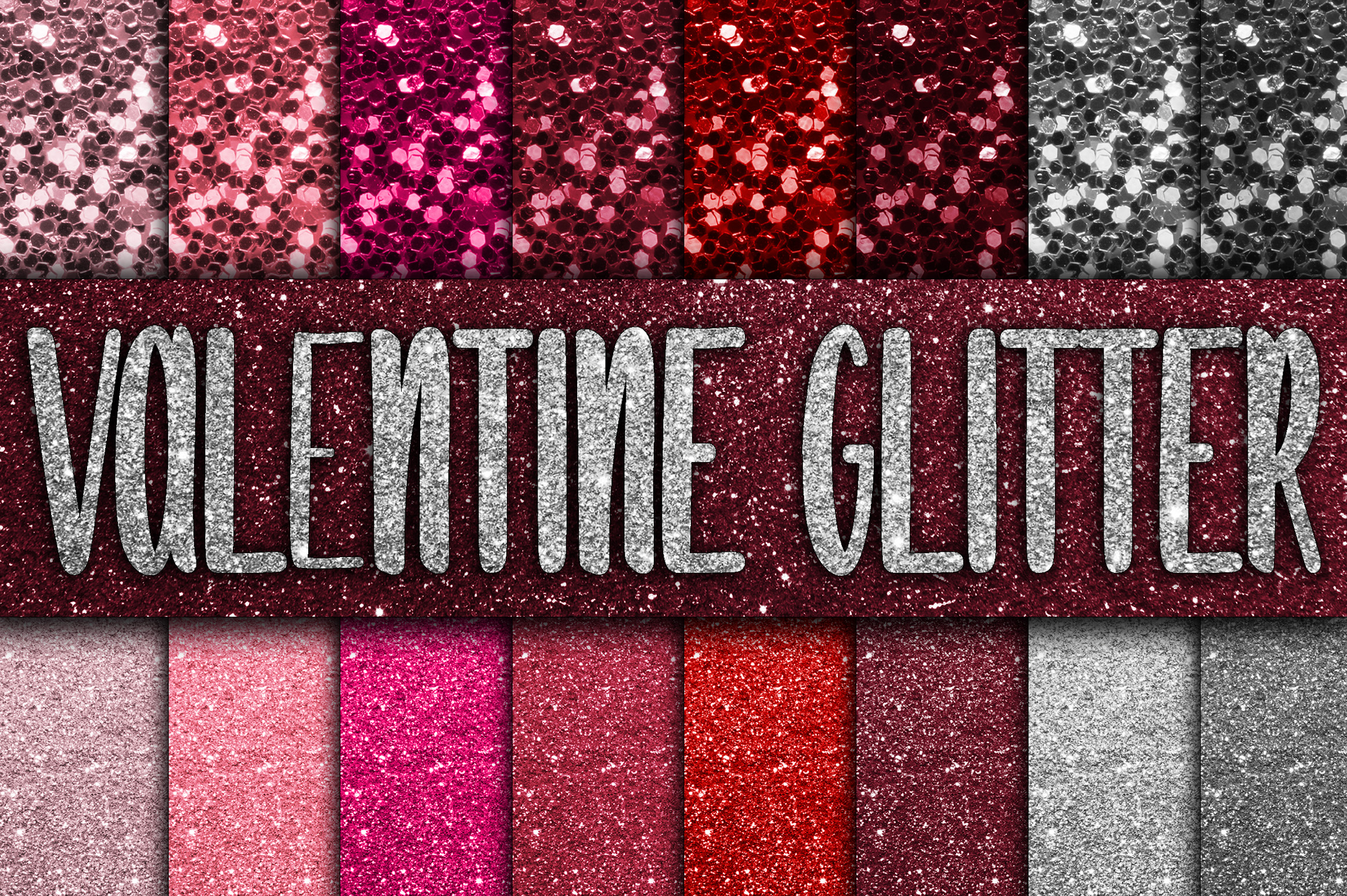 Valentine Glitter Digital Paper Textures Graphic Backgrounds By oldmarketdesigns