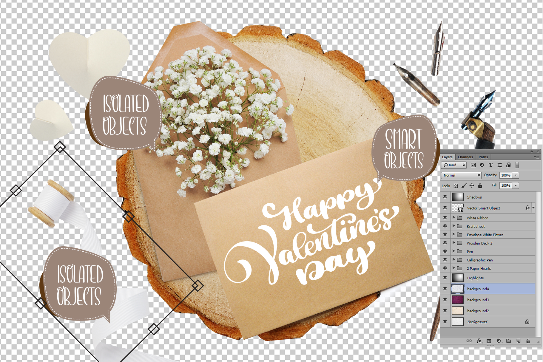Valentines Day PSD Layered Scene Graphic Product Mockups By Happy Letters - Image 2