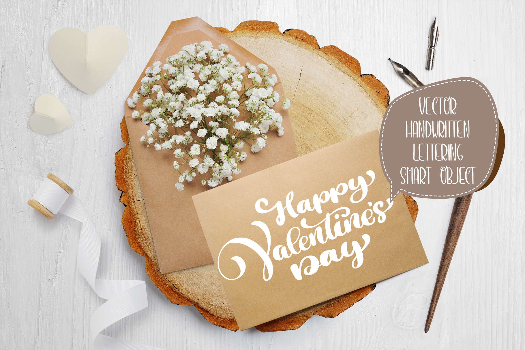 Valentines Day PSD Layered Scene Graphic Product Mockups By Happy Letters - Image 4