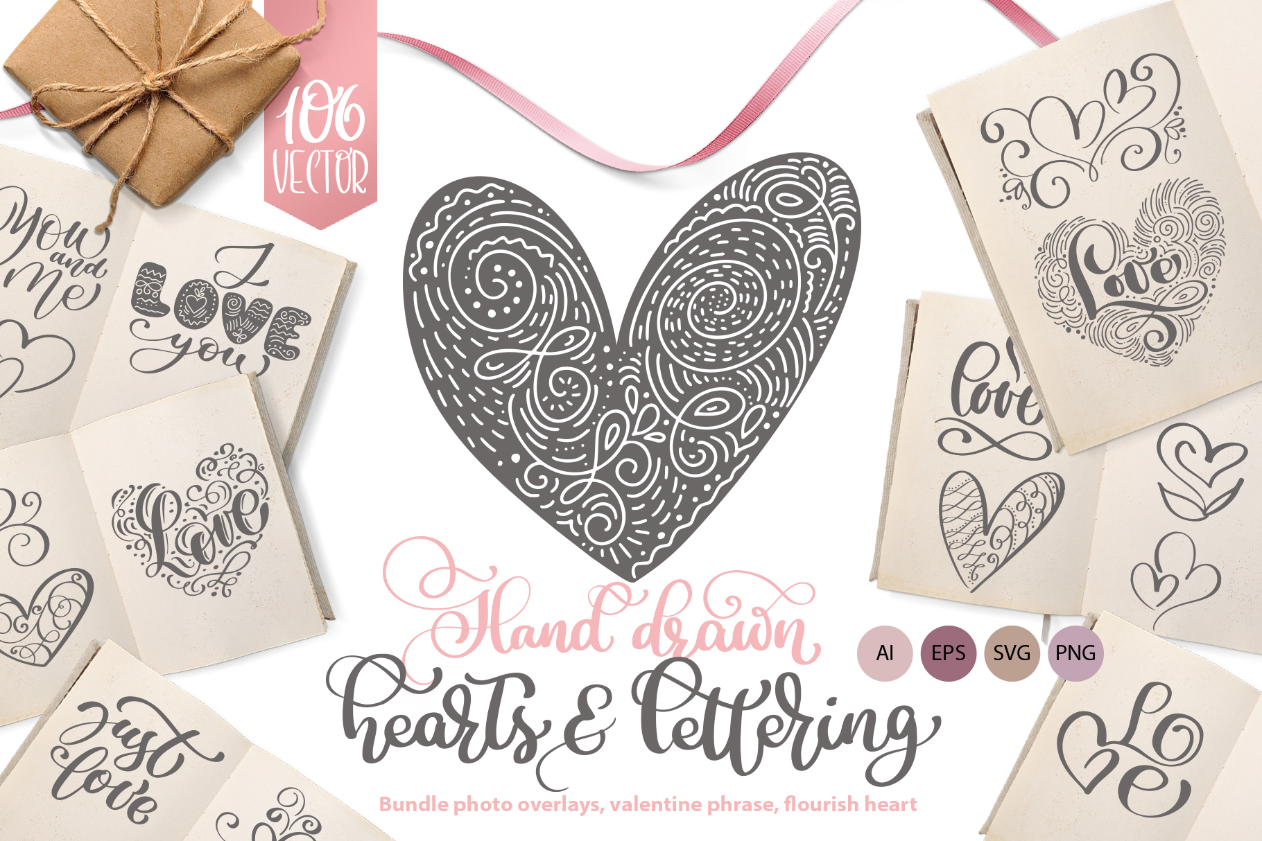 Hand Drawn Love Set - Vector Collection Graphic Illustrations By Happy Letters