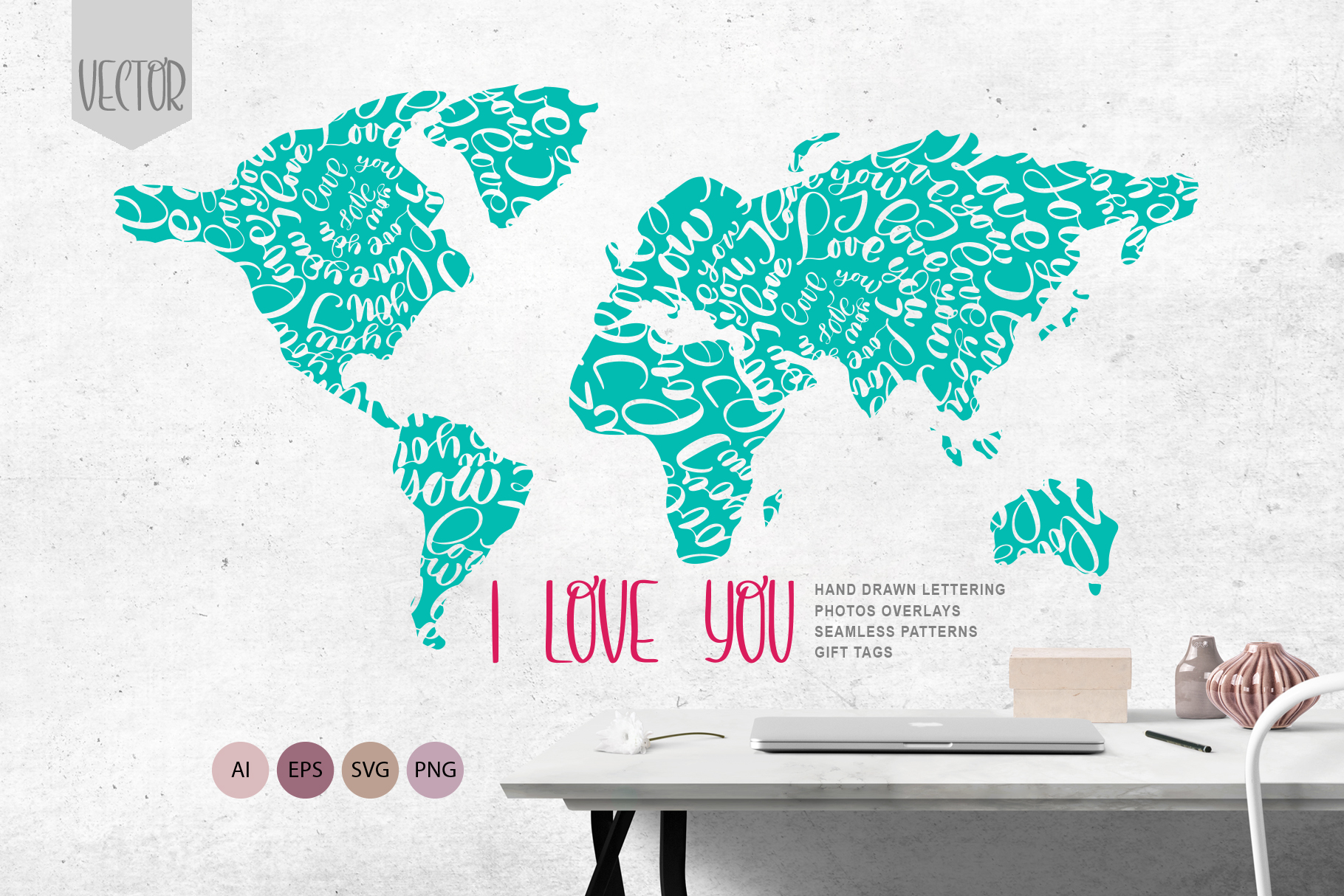 Valentine's Vector Photo Overlay Collection Graphic Objects By Happy Letters