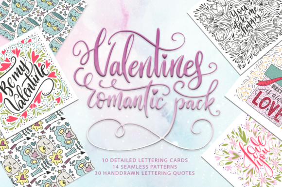 Valentines Romantic Pack Graphic By Red Ink
