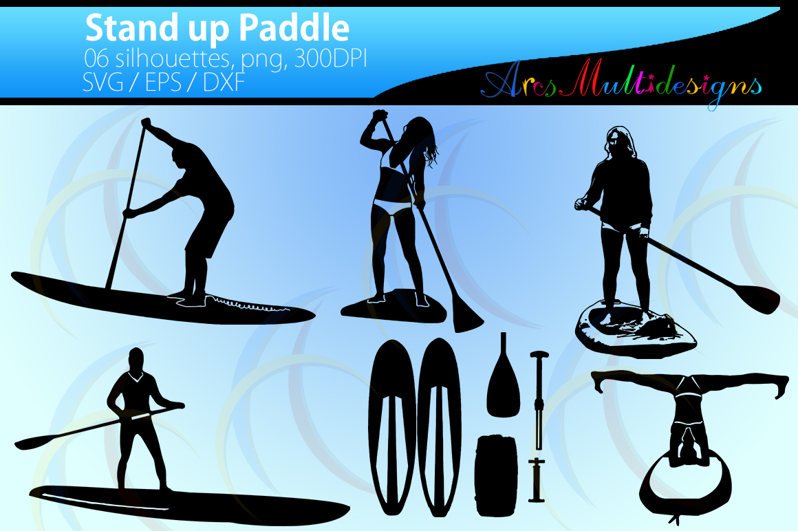 Print on Demand: Vector Paddle Silhouette Graphic Crafts By Arcs Multidesigns