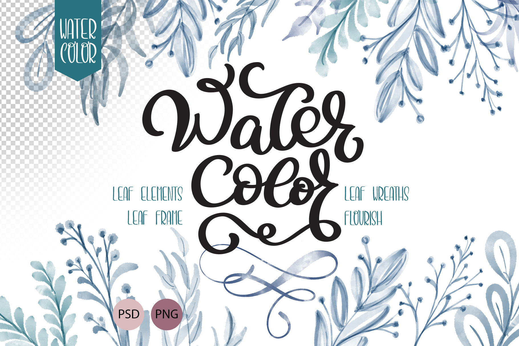 Watercolor Leaves Collection Graphic Illustrations By Happy Letters
