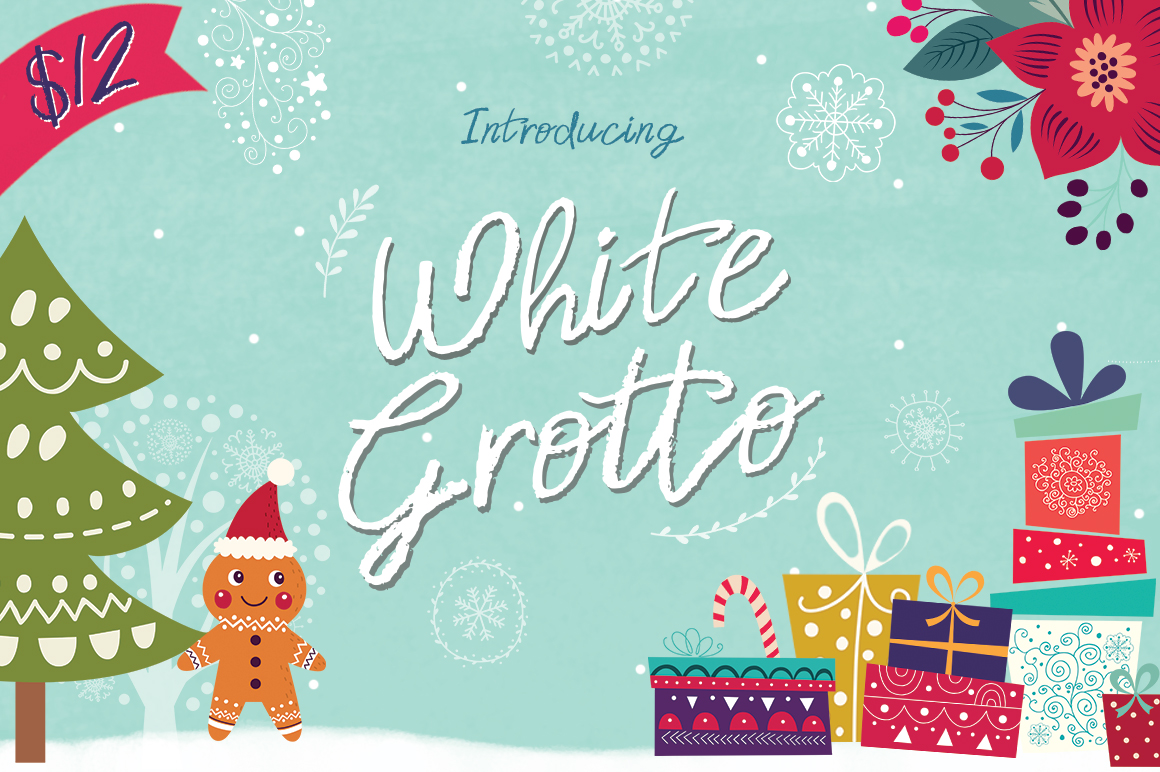 Print on Demand: White Grotto Script & Handwritten Font By Salt & Pepper Designs