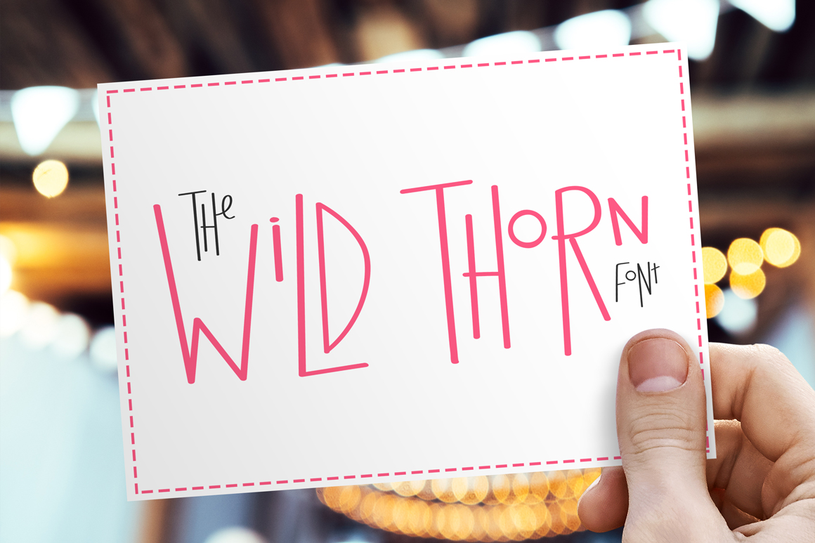 Print on Demand: Wild Thorn Display Font By Salt & Pepper Designs