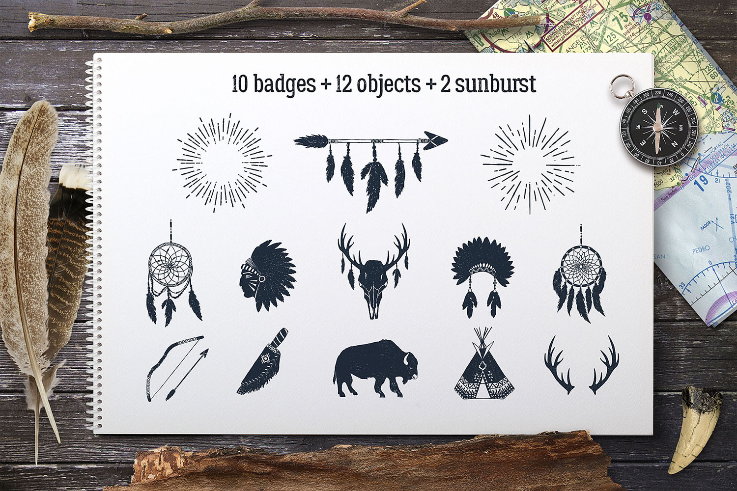 Wild at Heart - Vintage Badges Graphic By Cosmic Store Image 3