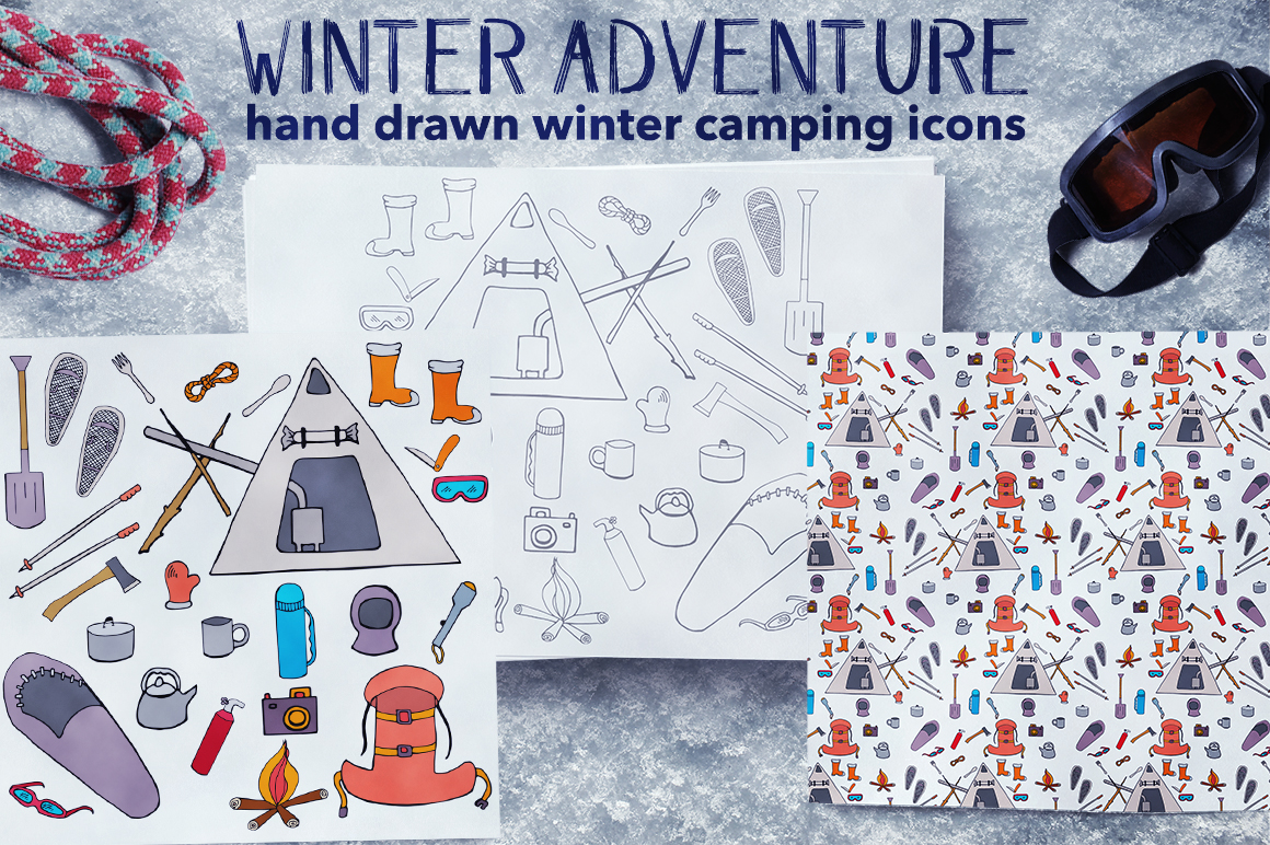 Winter Adventure Illustrations & Icons Graphic By InkandBrush