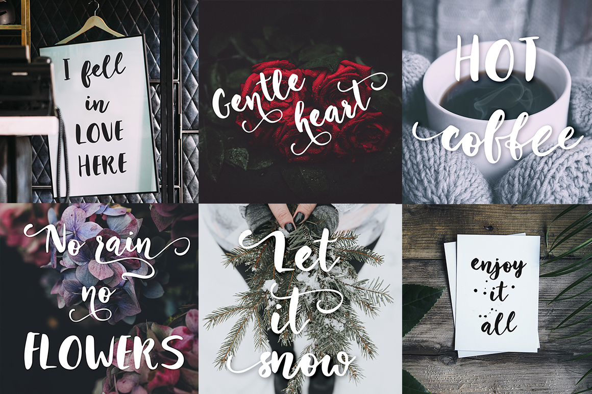 Winter Story Font By Red Ink Image 6