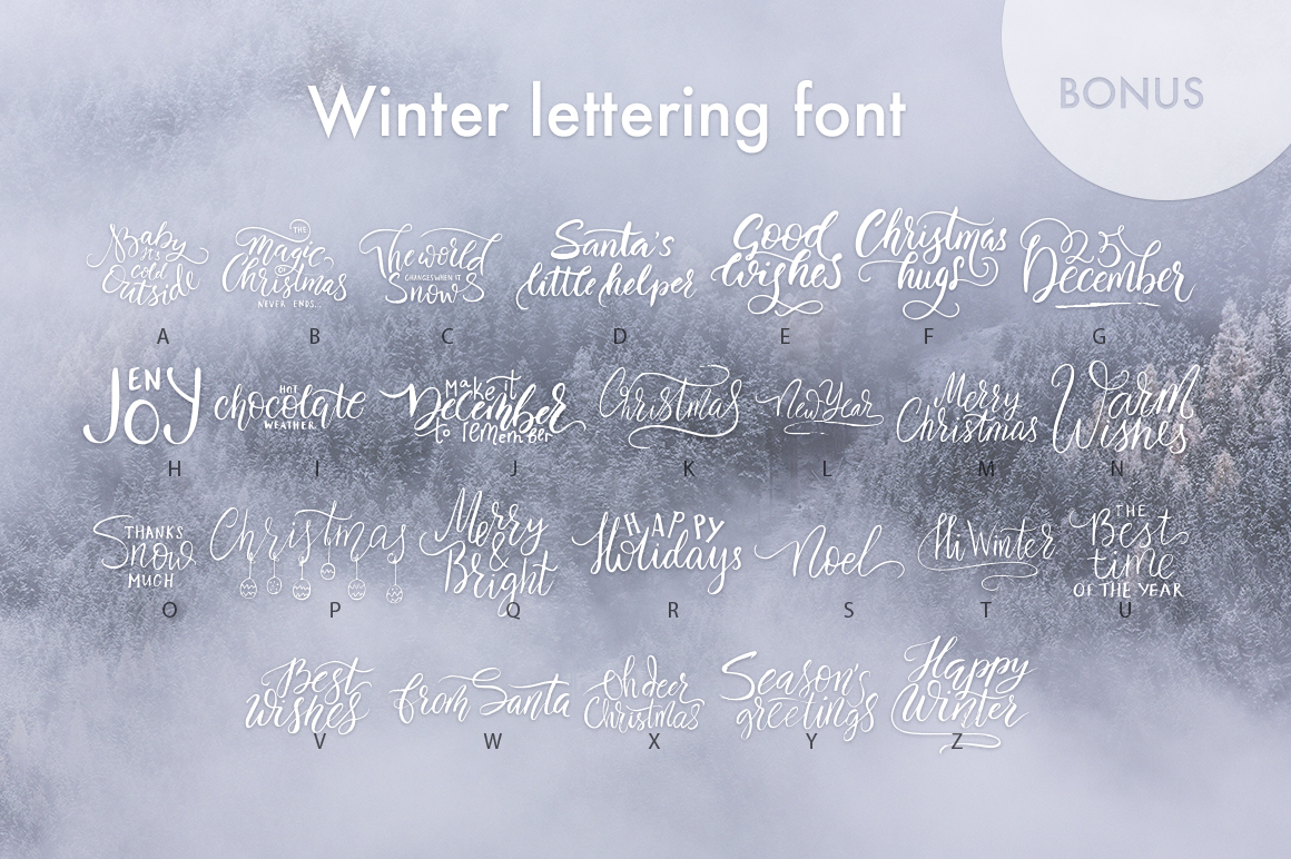 Winter Story Font By Red Ink Image 10