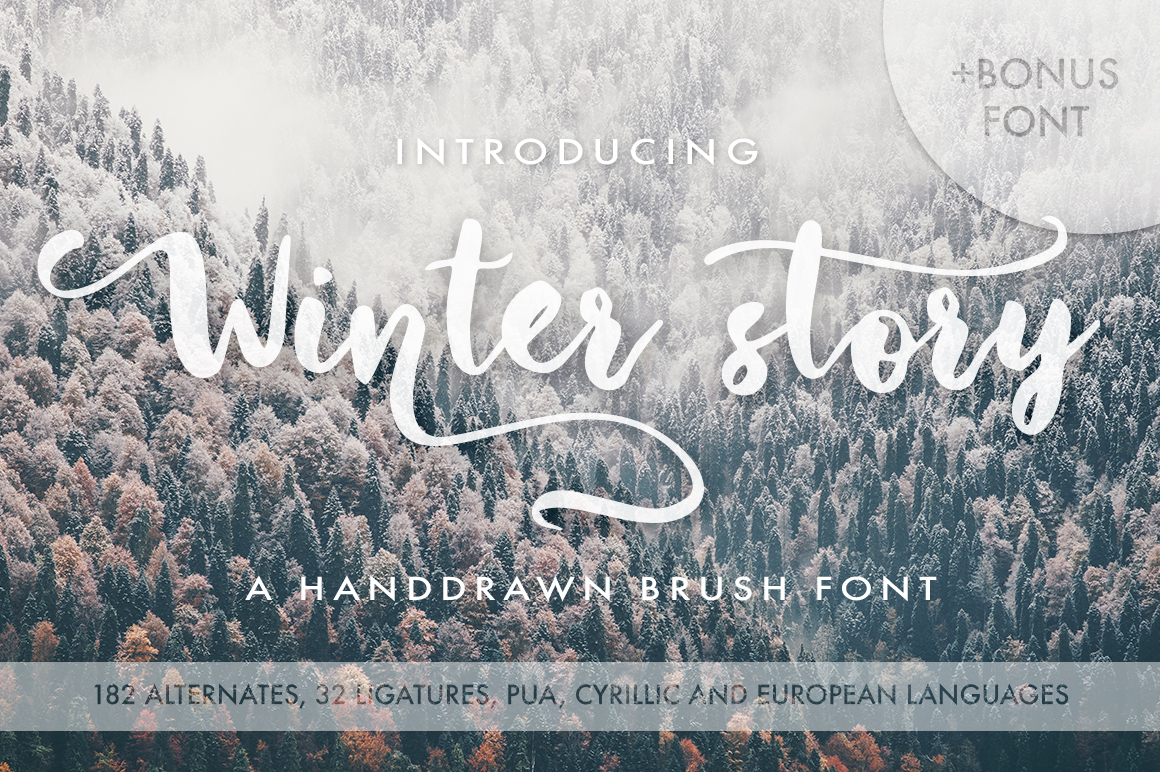 Print on Demand: Winter Story Script & Handwritten Font By Red Ink