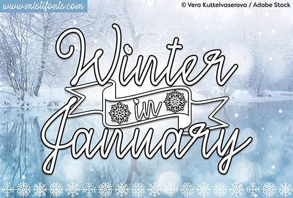 Print on Demand: Winter in January Script & Handwritten Font By Misti - Image 1