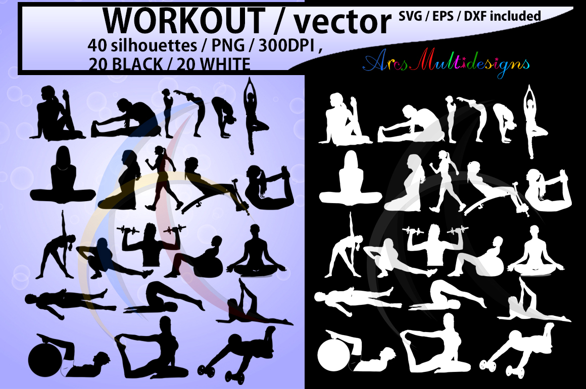 Print on Demand: Workout Vector  Graphic Crafts By Arcs Multidesigns