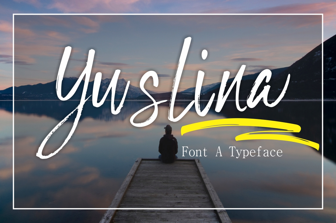 Print on Demand: Yuslina Script & Handwritten Font By screen letter