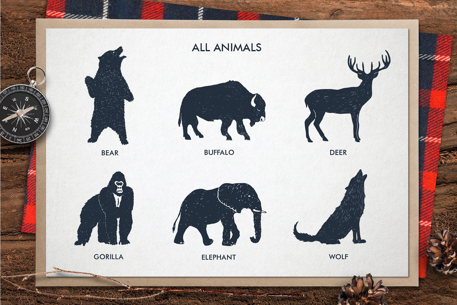 Zoonimals - Set with Hand Drawn Zoo Animals Graphic By Cosmic Store Image 3