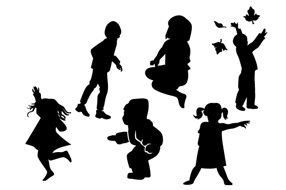 Active Kids Silhouettes Kids Craft Cut File By Creative Fabrica Crafts