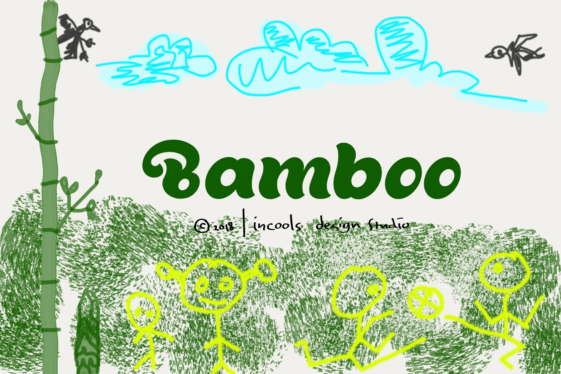 Print on Demand: Bamboo Script & Handwritten Font By Incools Design Studio - Image 1
