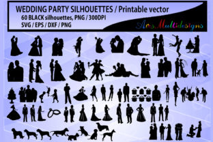 Print on Demand: Wedding Silhouette Graphic Crafts By Arcs Multidesigns