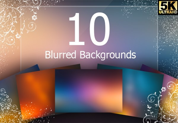 10 Blurred Backgrounds Graphic By Creative Fabrica Freebies